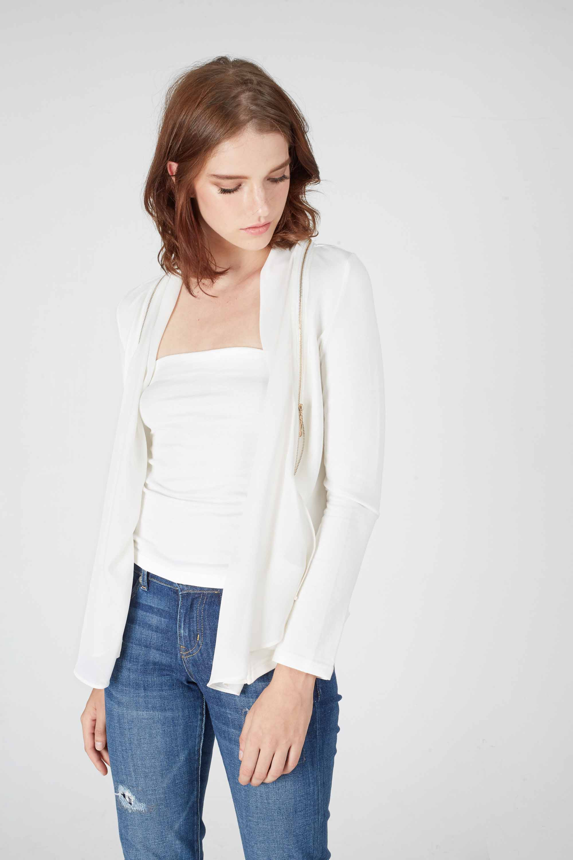 BARRY ZIP CARDI  JACKET